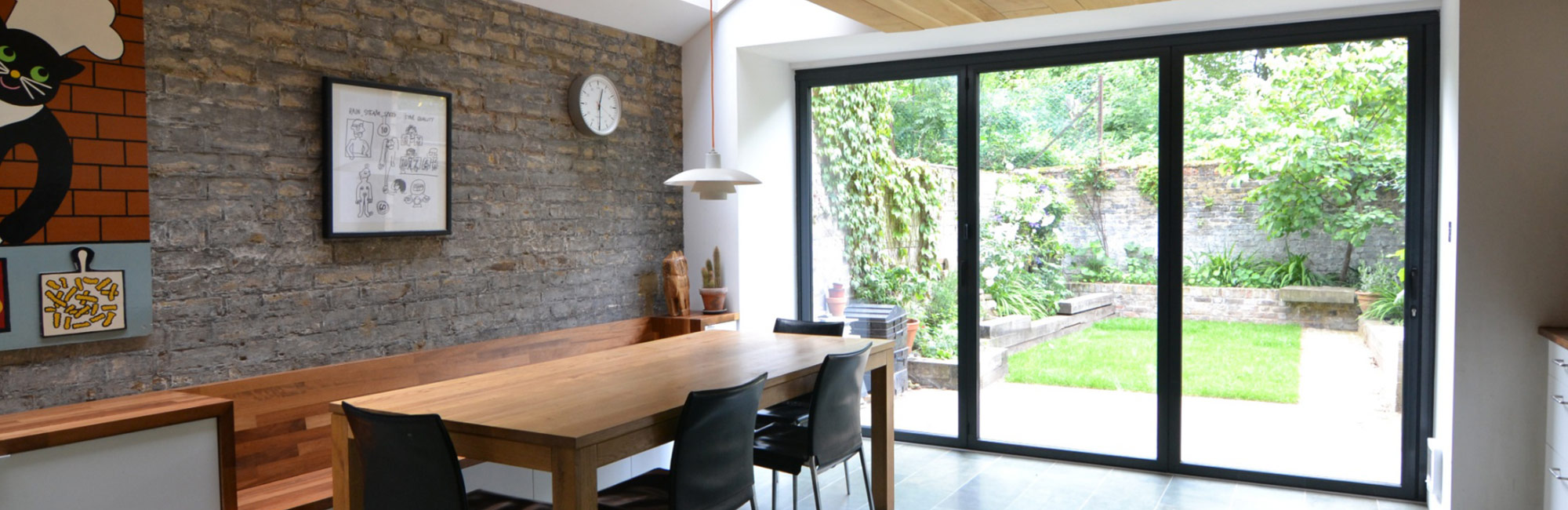 Sunflex SF75H & Timber - Sunflex SF75H Bifold Door - Park Farm Design